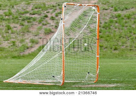 Lacrosse Ball In Net For A Goal