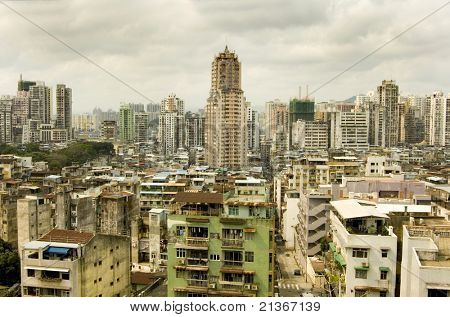 Macau city view from Above
