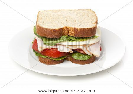 A Large Turkey Sandwhich
