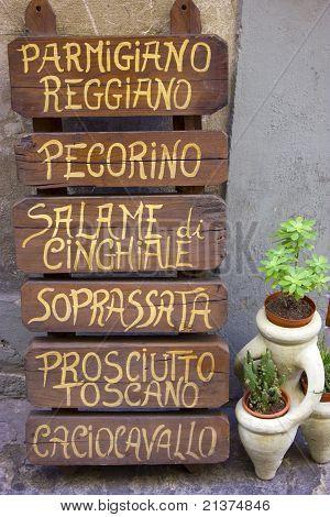 Special menu sign