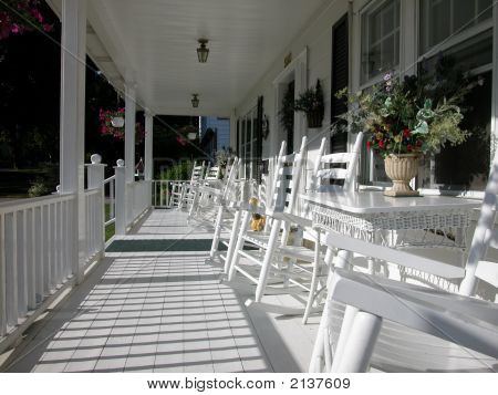 Classic Wood Front Porch