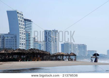 Mexican beach skyline
