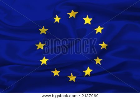 Flag Of European Union (United States Of Europe) - Digital Illustration