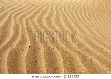 Faixas de areia.