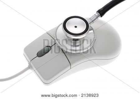 Stethoscope With A Computer Mouse