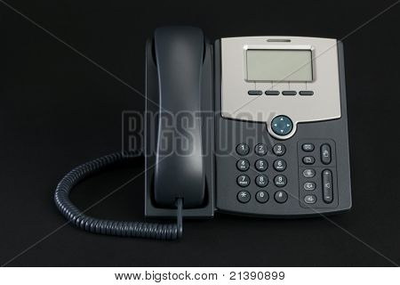 VOIP Phone Isolated on Black Background