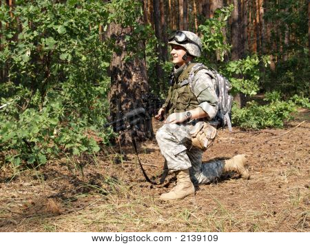 Soldier In The Woodland
