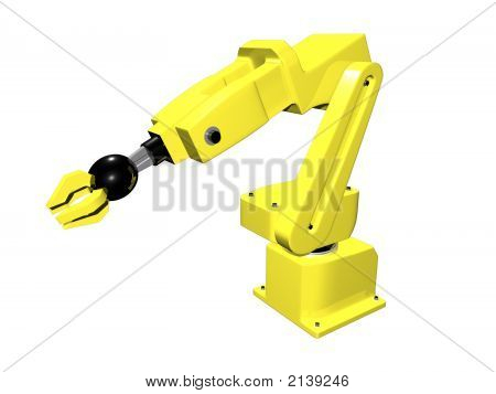 3D Yellow Automated Arm