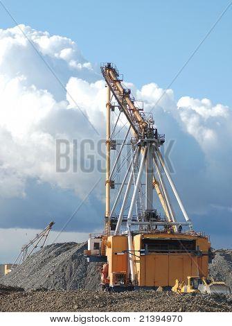 Open cast mining quarry
