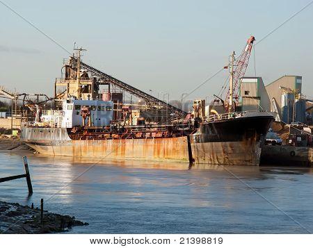 Dredger Ship In Dock