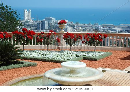 Haifa View From Bahai Temple Garden Terrace,israel