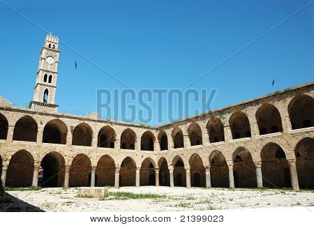 Ottoman Landmark Building - Khan El-umdan In Akko, Israel