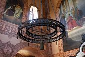 stock photo of church mary magdalene  - Detail of interior in Mary Magdalene church at the Olive mount - JPG