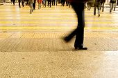 picture of street-walker  - Busy street in China - JPG