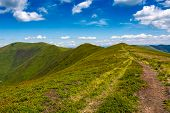 Tourist Footpath Through Mountain Ridge poster