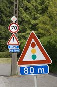 Traffic lights roadsign