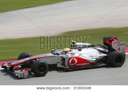Lewis Hamilton exits turn 15