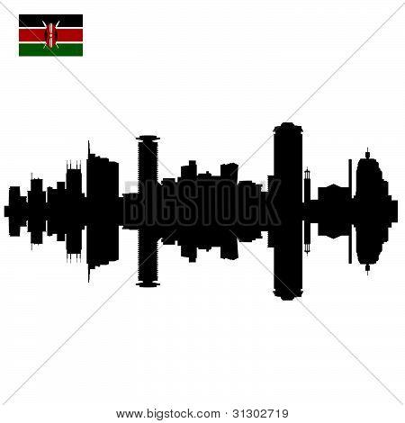 Nairobi silhouette skyline