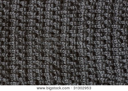 Gray Textured Fabric Background