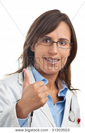 Positive Doctor Thumbs Up