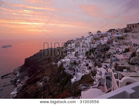 Famous Santorini Sundown