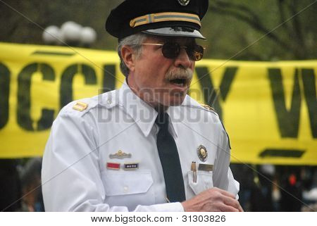 occupy wallstreet, retired police captain