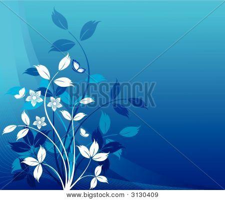 Fondo floral diseño artístico
