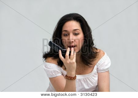 Woman Yelling On Phone