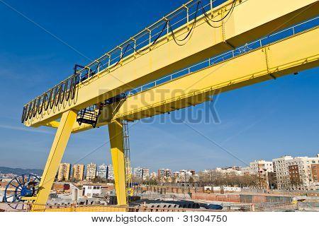 Yellow Gantry Crane