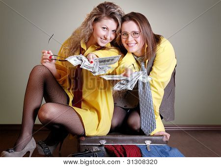 Two Beautiful Girls With Money