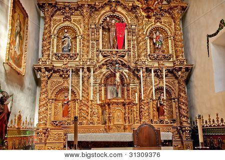 Spanish Ornate Altar Serra Chapel Mission San Juan Capistrano California