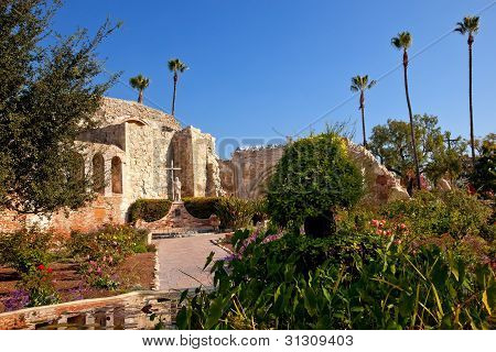 Mission San Juan Capistrano Church Ruins California