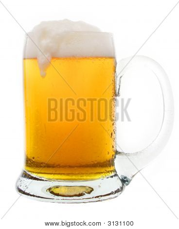 Tasty Cold Beer In A Mug