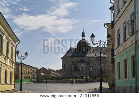 Old Town Square With Church