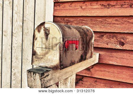 Vintage grunge mail box