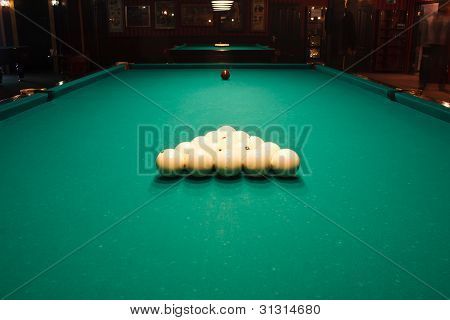 Russian Billiard Table With Balls