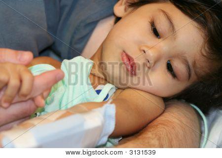 Krank Baby im Krankenhaus