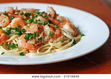 Shrimp Scampi and Pasta