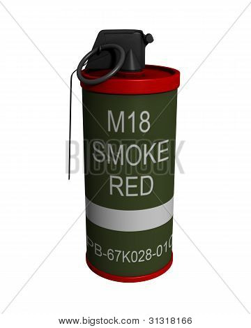 3D Rendered Isolated M18 Smoke Grenade