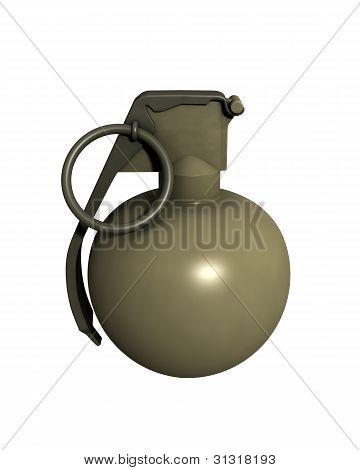 3D Rendered Isolated M67 Grenade