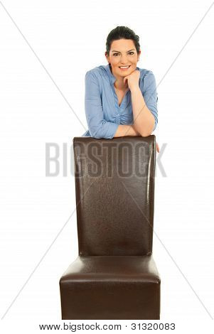 Business Woman With Chair