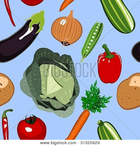 Seamless Vegetables Background