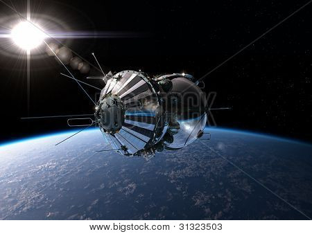 The First Spaceship At The Orbit