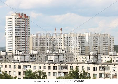 Summer Cityscape In Moscow, Russia