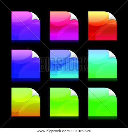 Vector Colorful Stickies