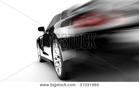 Black Speed Car