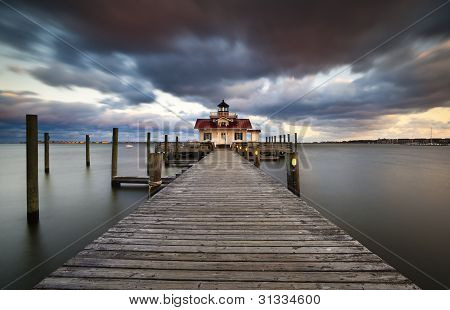 Roanoke Marshes Lighthouse Manteo North Carolina Harbor Outer Banks Nc