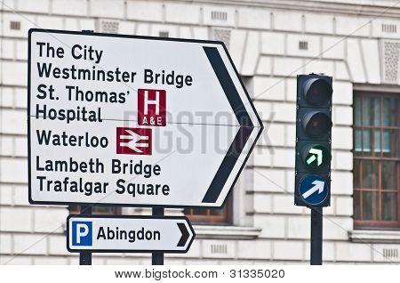 Streetsign em Londres, Inglaterra