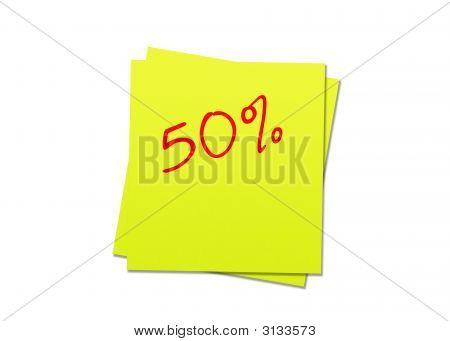 Sticky Note 50%