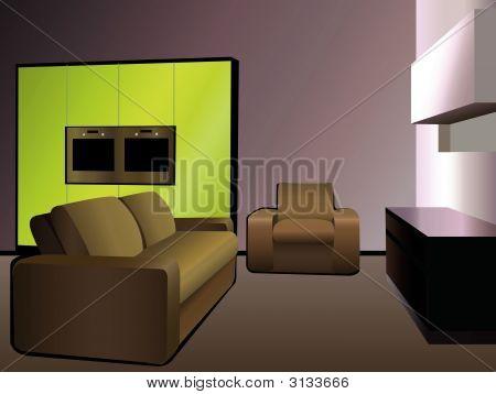 Kitchen 9 Green Vector